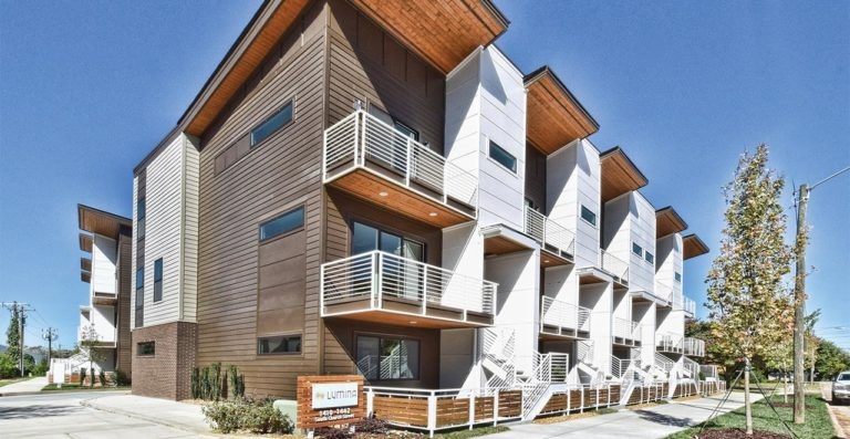 Revolve Residential Lumina townhomes in South End